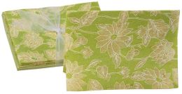 Lime Floral Notecards set of 8