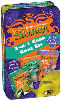 Shrek 3 in 1 Card Game Tin