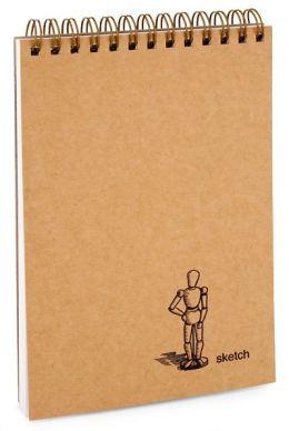 Kraft Art Model Mini Sketch Book 4.5x6.75