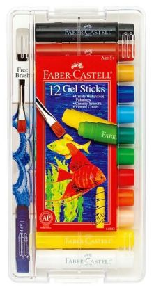 Gel Sticks with Brush: 12 count