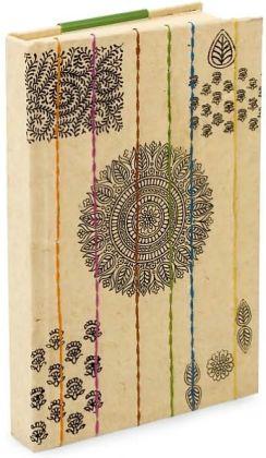 Block Print Cream Handmade Paper Blank Journal (6