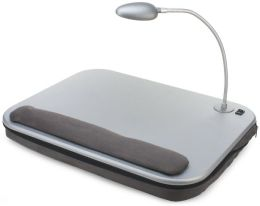 Elevation Slate Gray Lapdesk with LED Light and Adjustable Base