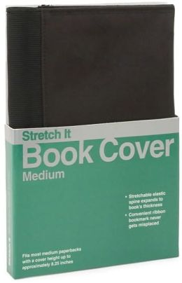 Medium Black Microfiber Bookcover with Stretchable Spine for Paperback Books 6.5x9