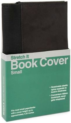 Small Black Microfiber Bookcover with Stretchable Spine for Mass Market Paperbacks 4.5x7