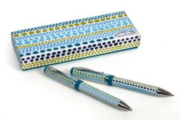 Jonathan Adler Weight Teal & Green Metal Pen & Pencil Set