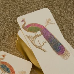 Hand Painted Peacock Bookmark