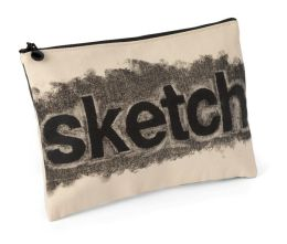 Sketch Rubbed Out Accessory Pouch 7