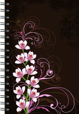 Orchids on Brown Journal - Large