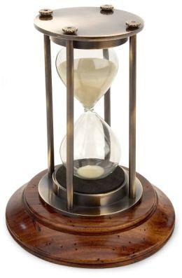 Bronzed 30 Minute Hourglass 5.25'' x 3.25''