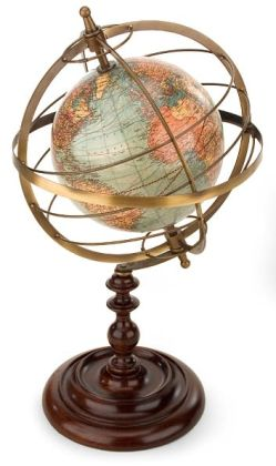 Terrestrial Armillary Sphere 13.25 x 8.75