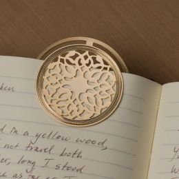 Turkmenistan Round Bookmark in 24KT Gold Plate