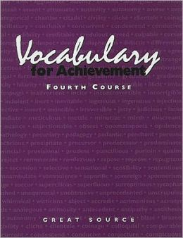 Vocabulary for Achievement: Fourth Course
