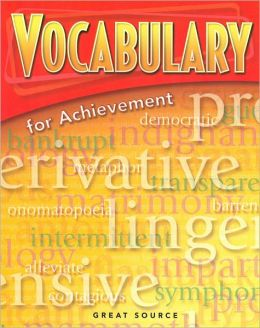 Great Source Vocabulary for Achievement: Student Edition Grade 6 Intro Course 2006