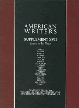American Writers Supplement: Max Apple to Franz Wright
