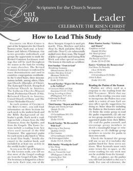 Celebrate the Risen Christ Leader's Guide