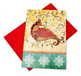 Elegant Partridge Tip On Christmas Boxed Card