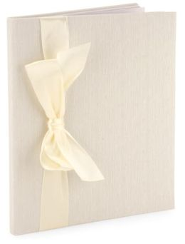 Ivory Silk with Bow Memory Book