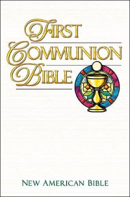 First Communion Bible: New American Bible (NAB), blue imitation leather
