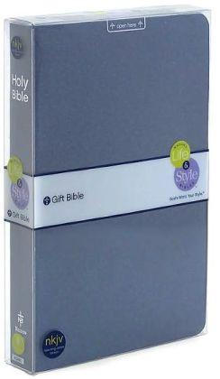 KJV Nelson's Life & Style Gift Bible: Blue Metallic