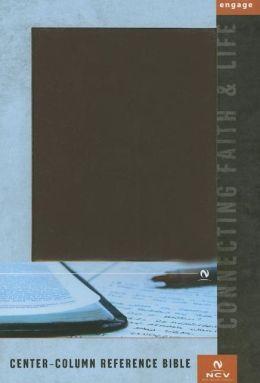 NCV Center-Column Reference Bible: Burgundy
