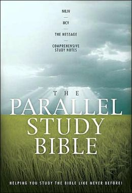 The Parallel Study Bible: NKJV - NCV - The Message - Comprehensive Study Notes (black bonded leather)