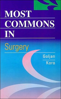 Most Commons in Surgery