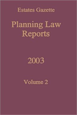 Planning Law Reports 2003 V2