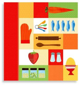 Kitchen Collage Recipe Binder