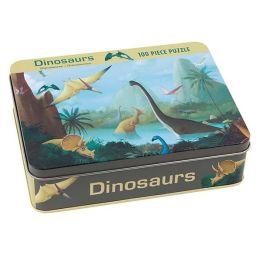 Dinosaurs 100 Piece Puzzle Tin
