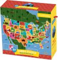 Product Image. Title: Map of the U.S.A. Jumbo Puzzle