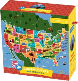 Map of the U.S.A. Jumbo Puzzle