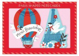 Paris Shaped Notecards