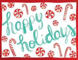 Peppermints Holiday Glitz Notecard