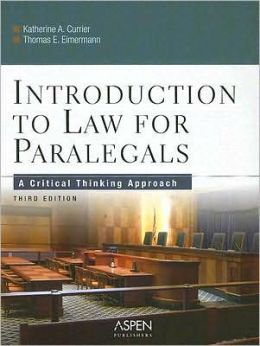Introduction to Law For Paralegals, Third Edition
