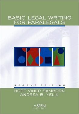 Basic Legal Writing For Paralegals, Second Edition