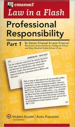 Law in a Flash Cards: Professional Responsibility/MPRE, 2-Part Set
