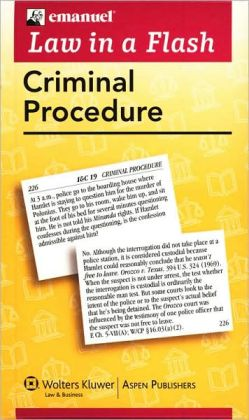 Law in a Flash Cards: Criminal Procedure