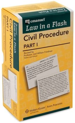 Law in a Flash Cards: Civil Procedure, Part I