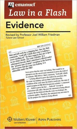 Law in a Flash Cards: Evidence