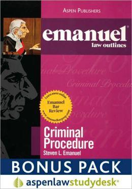 Emanuel Law Outlines: Criminal Procedure (Print + eBook Bonus Pack)