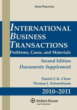 International Business Transactions Document Supplement 2010-2011
