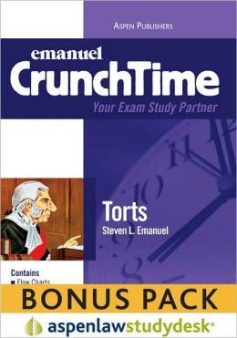 Emanuel CrunchTime: Torts (Print + eBook Bonus Pack)