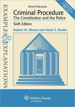 Criminal Procedure (Examples and Explanations Series)