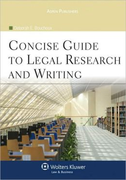 Concise Guide to Legal Research and Writing