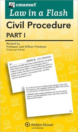 Law in a Flash Cards: Civil Procedure I