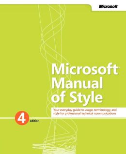 Microsoft Manual of Style