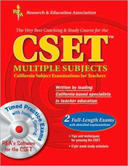 CSET Multiple Subjects w/CD-ROM: The Best Test Preparation
