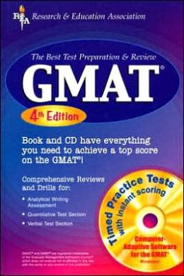 GMAT w/CD-ROM 4th Ed. (REA) - The Best Test Prep & Review