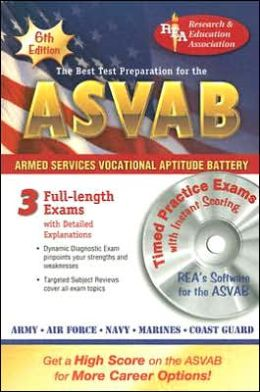 ASVAB with CD: The Best Test Preparation for the Armed Services Vocational Aptitude Battery