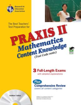 PRAXIS Math Content Knowledge W/CD
